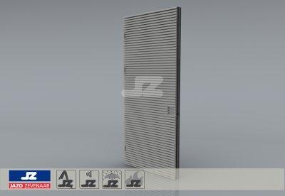 Alu. P-kozijn+enkele deur+HS-27 opbouwrst Lips 2422