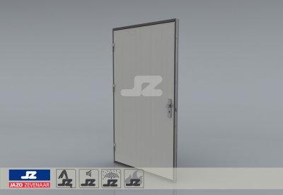 Alu. P-kozijn+enkele deur Liander