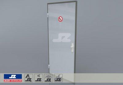 Alu P-kozijn enkele deur (Bio)Gaskast Links