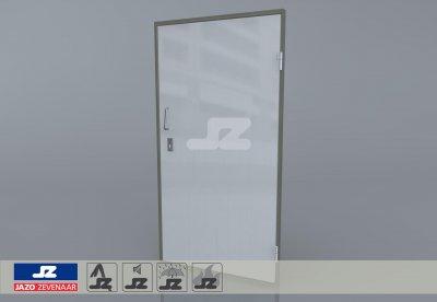 Alu. P-kozijn+enkele deur BVR