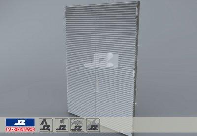 Alu. P-kozijn+dubbele deur+HS-42 opbouwrst