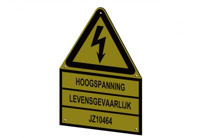 Gepersonaliseerd waarschuwingsbord