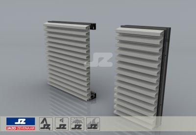 HS-42 schijnrooster aluminium