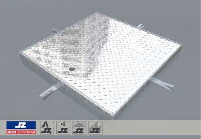 Hoekomranding met aluminium luik lxb 640x640