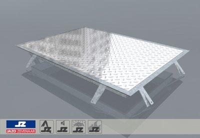 Hoekomranding met aluminium luik lxb 739x539