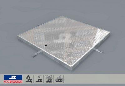 Hoekomranding met aluminium luik lxb 840x840