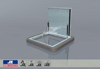 Hoekomranding met stalen luik lxb 900x900