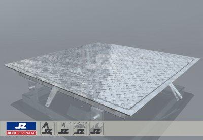 Hoekomranding met stalen luik lxb 700x700