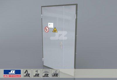Aluminium dubbele deur