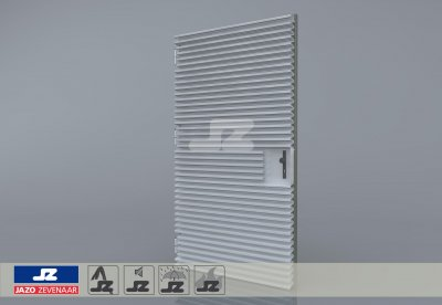 Staal CF-kozijn+enkele deur+HS-50 opb.rst. schijn EW60 EN1634-1