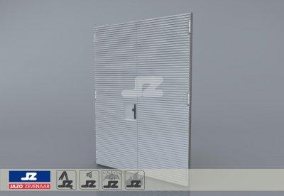 Staal CF-kozijn+dubbele deur+HS-27 opb.rst. schijn