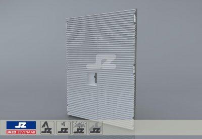Staal CF-kozijn+dubbele deur+HS-42 opb.rst. schijn EW60 EN1634-1