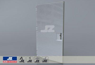 Staal CF-kozijn+enkele deur+HS-42 opb.rst.