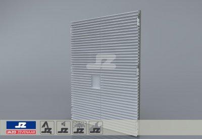 Staal CF-kozijn+dubbele deur+HS-50 opb.rst. schijn