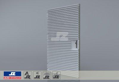 Staal CF-kozijn+enkele deur+HS-50 opb.rst.