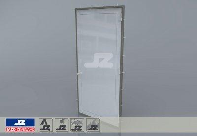 Staal CF-kozijn+enkele deur EW60 EN1634-1