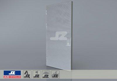 Type P aluminium deur 1256x2570 t/m 250 kVA L