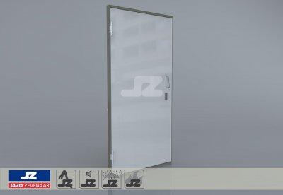 Type P aluminium deur inkoopstation Links