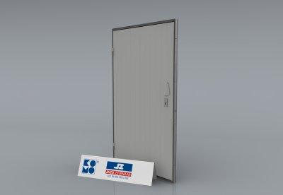 Alu. P-kozijn met enkele dichte deur
