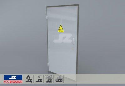 Aluminium enkele deur