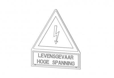 Waarschuwingsbord HS