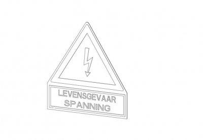 Waarschuwingssticker LS
